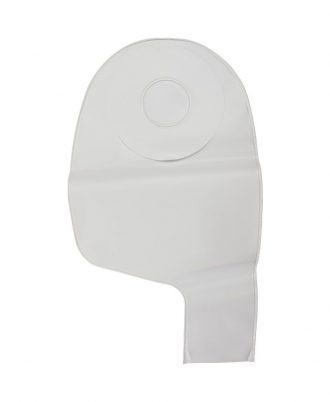 Feather Lite Two-Piece Drainable Ileostomy Pouch, Right Spout