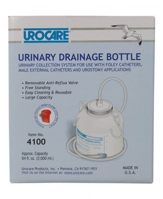 "Urocare Drainage Bottle with 60"" tubing"