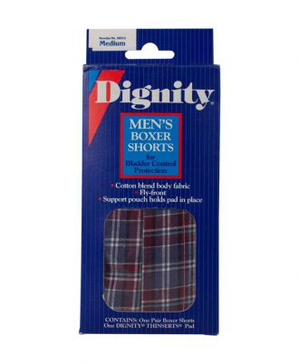 Dignity Washable Men's Boxer with Built-In Protective Pouch