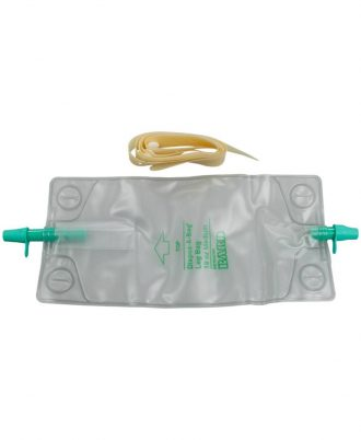 BARDIA Urinary Leg Bag With Rubber Cap