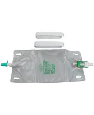 DISPOZ-a-BAG Urinary Leg Bag With Flip-Flo Valve-Fabric Straps