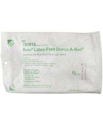 DISPOZ-a-BAG Urinary Leg Bag With Flip-Flo Valve-Latex Free