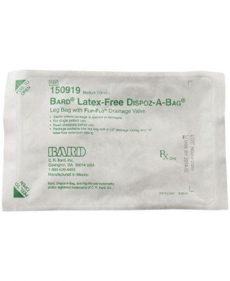 DISPOZ-a-BAG Urinary Leg Bag With Flip-Flo Valve with Latex Free Tubing