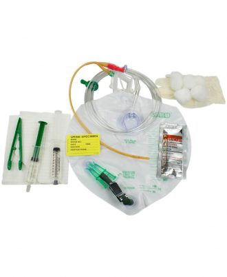 Lubricath Drainage Bag Foley Tray Anti Reflux Chamber & Tamper-Evident Seal