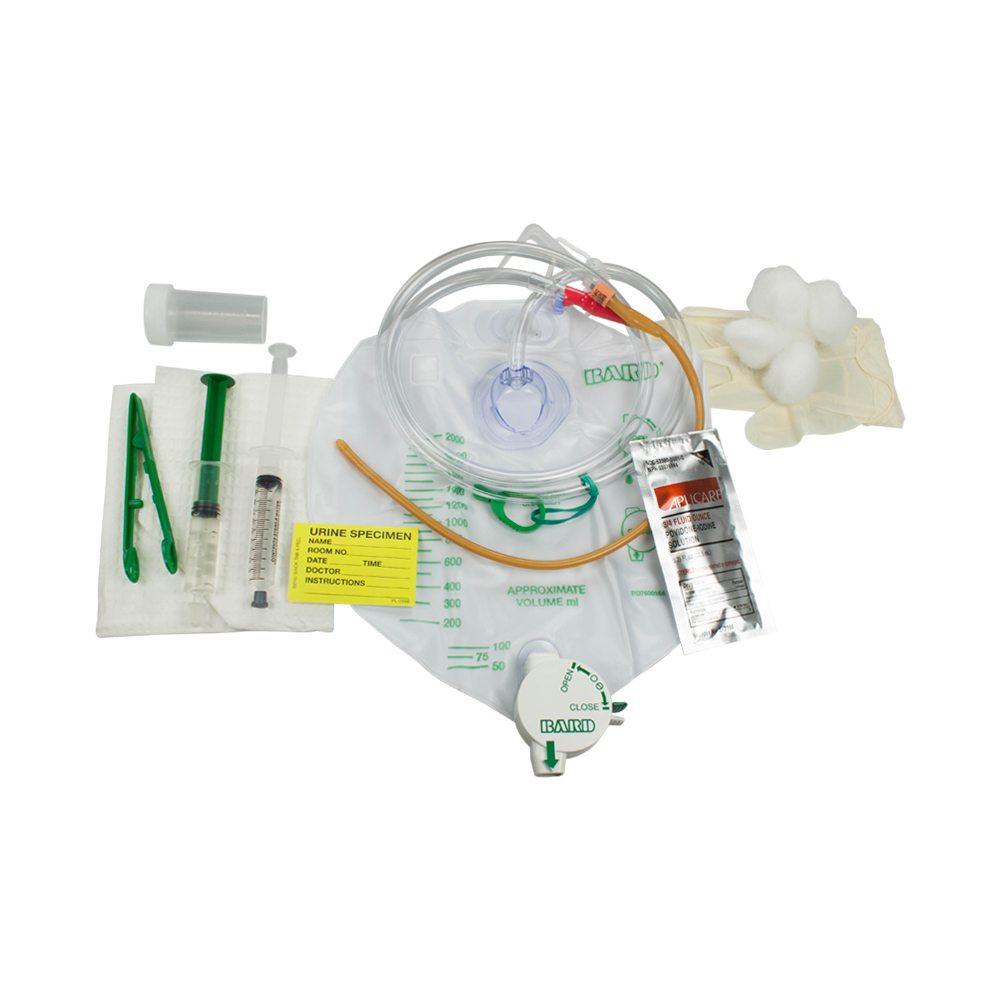 Lubricath Safety Flow Foley Catheter Tray