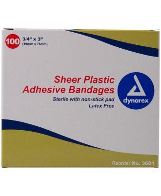 Dynarex Sheer Plastic Bandages