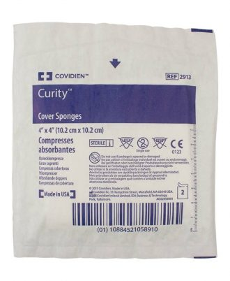 Curity Cover Sponges, Non-Woven, Sterile