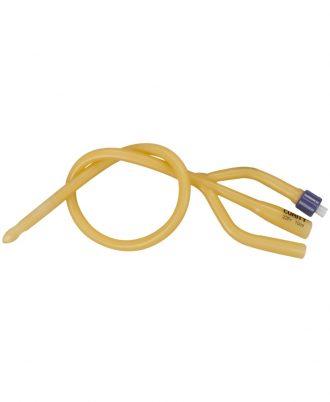 Dover 3-Way Latex Silicone Elastomer Coated Foley Catheter