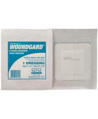 WoundGard Bordered Gauze Dressing, Sterile