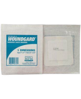 WoundGard Bordered Gauze Dressings, Non-sterile