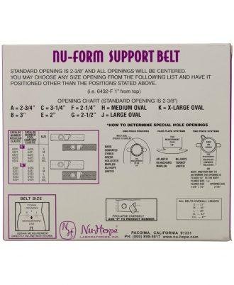 Nu-Form Support Belt, Cool Comfort Elastic