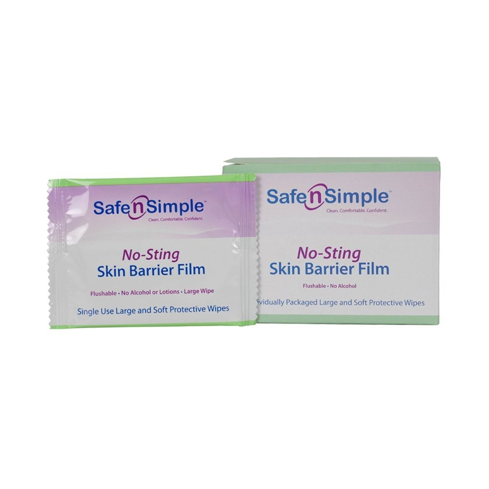 "Safe N Simple No-Sting Skin Barrier Film Wipes - Case of 600 Home Health EverclД""n, Facial Toner, 4 Fluid Ounce"