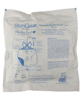 Sterigear Urinary Bed Side Drainage Bag with Fig Leaf Cover