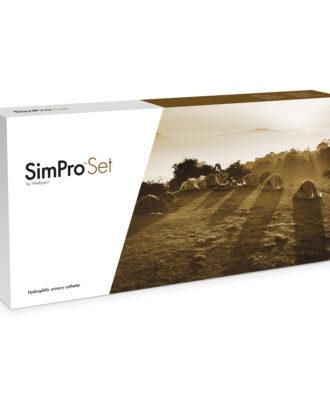 "SimPro Set Tiemann Coud Tip 16"" Intermittent Catheter"